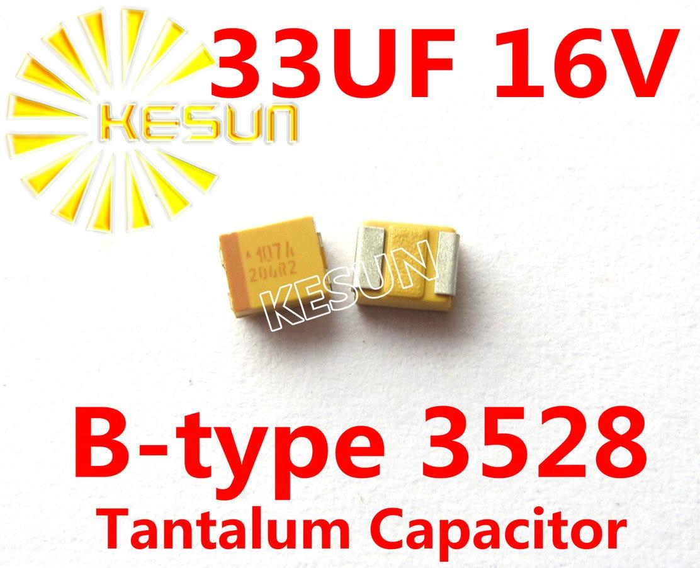 33UF 16V B type 1210 3528 336C SMD Tantalum Capacitor Connector TAJB336K016RNJ x500PCS