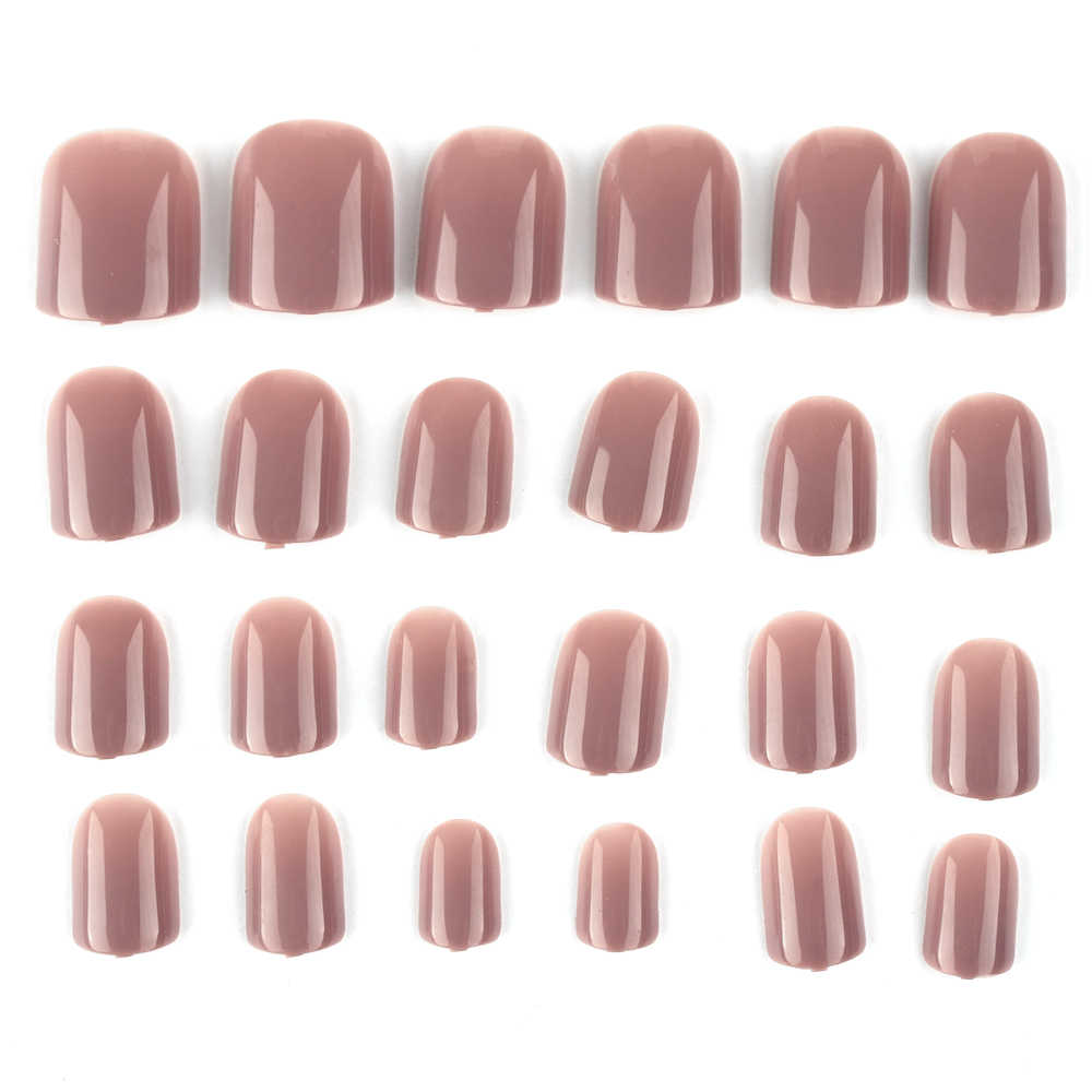 24 pcs/set 18 Colors French Designs False Nails Full Cover Artificial Fake Nails Press On Tips Art Tips Manicure Decors Beauty