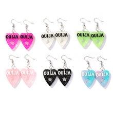 Модные серьги подвески с сердцем ouija 1 пара полимерные аксессуары