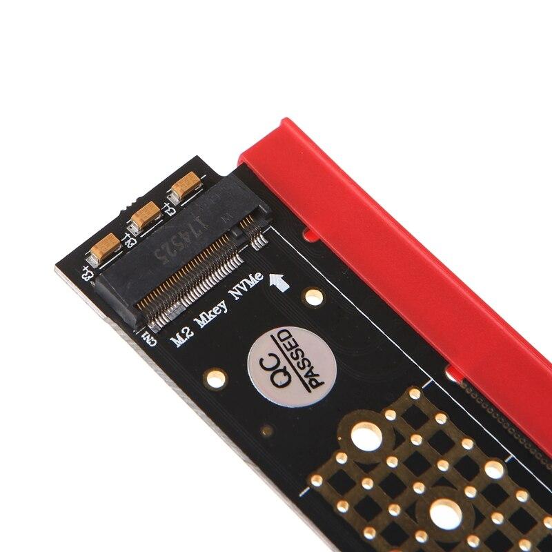 M.2 NGFF Накопитель SSD с протоколом NVME к PCI-E 3,0X16 адаптера с радиатором для 1U/2U сервер