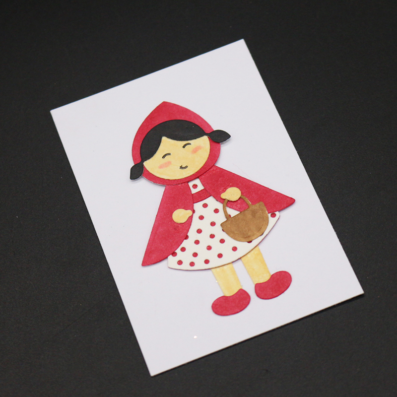 Cute little girl Metal Cutting Dies Scrapbooking Embossing DIY Decorative Cards Cut Stencils