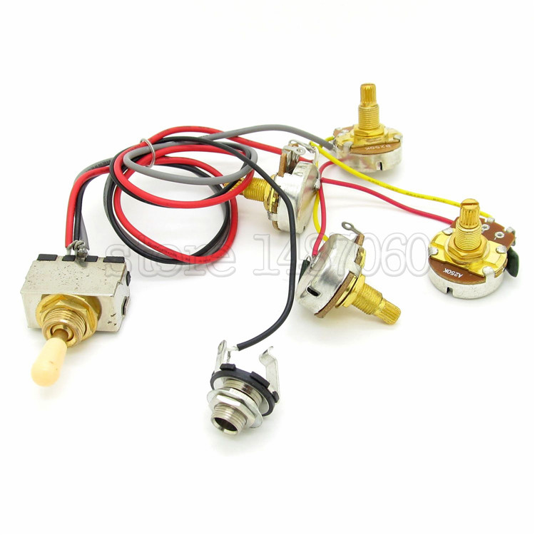 guitar wiring harness 3 way toggle switch 2 volume 2 tone ... guitar wiring harness volume tone tone