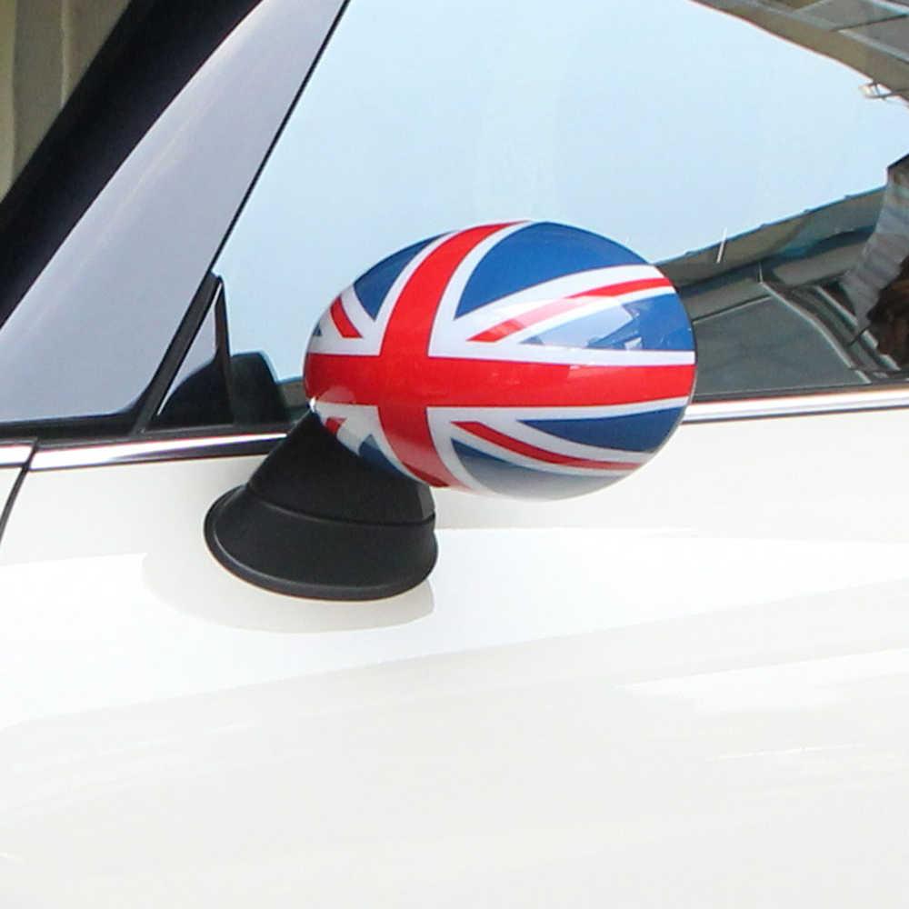 2 pçs porta espelho retrovisor capas adesivos de carro-estilo para mini cooper s clubman countryman r55 r56 r57 r58 r59 r60 r61