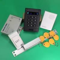 DC12V Padrão Tipo de bloqueio Greve Elétrica Falhar Seguro Fail safe (NÃO) + fonte de Alimentação + Keyfobs + sino de porta + botão Sair para o controlador|lock button|supply powerbuttons buttons -