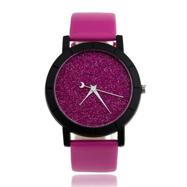 Star Minimalist Fashion Watches For Lovers Leather Strap Watch Fashion Watch Wom