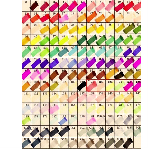 Alcohol 60 Colors Copic Markers Animation design color Informs Copic ...