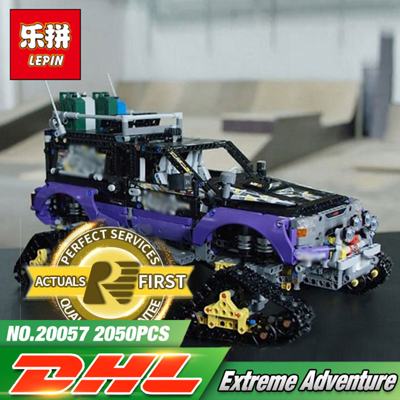 Lepin 20057 2050Pcs Technic Mechanical Series The Ultimate Extreme Adventure Car Set Building Blocks Bricks Toys LegoING 42069 lepin 20076 technic series the mack big