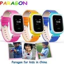 Niños Reloj GPS Tracker SOS de Emergencia GSM Teléfono Móvil Inteligente rastreador de ejercicios smartband niños reloj gps Ruso Q50 Q80 Q90 q60