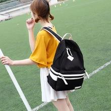 Корейский стиль мягкий рюкзак холст для женщин Колледж Стиль Повседневный рюкзак для студентов простые Свежие Большой Ёмкость школьный