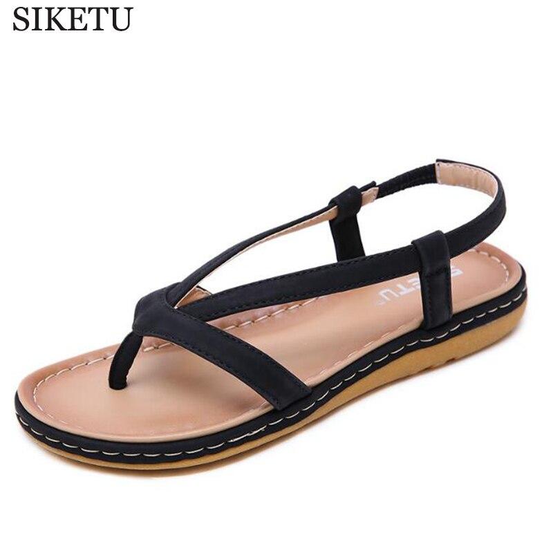 Sandalias Flops Planos 2019 Cómodas C405 Verano Beige Zapatillas Flip Zapatos Mujer Casuales Mujeres De Las Nuevas Cadena negro Sandalias 1FZ8trZ