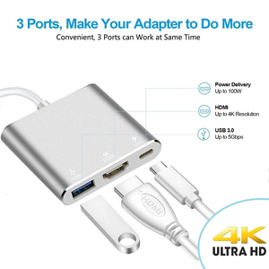 Image 3 - Baolyda USB C Dock HDMI Type C to HDMI Hub Adapter 4K USB C Multiport Adapter USB C Converter for MacBook/Chromebook Pixel/Dell