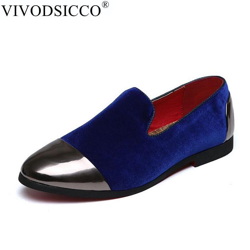 bleu Velours Rond Mariage Mocassins Parti De Pantoufles Slip Hommes Chaussures Vivodsicco Europe Bout Style Noir Bleu on Noir Nouveau Conduite WED9IH2