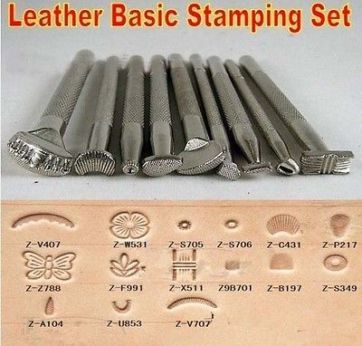 9pcs Craftool Leather Craft Stamps Set Working Saddle Making Toolsdua