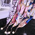 Silk Lanyard Rope for iPhone Samsung Bluboo Camera Neck keys Straps sports supreme quality badge holder card Luxurious Gift