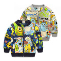 Boy cardigan spring and autumn Sweatshirts New Cartoon Coats dinosaur printed Cotton Baby Boy Jacket Cute Boys Zipper outwear