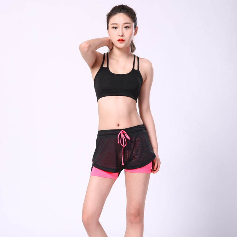 2019 Summer Double Layer Shorts Women Skinny Fitness Shorts Women Elastic Casual Shorts Female Joggings Pantalones Cortos Mujer