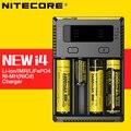 Nitecore Novo i4 Originais Solt Inteligente 4 Carregador De Bateria com Display LCD para 14500 16340 (RCR123) 18650 22650 26650 aa aaa