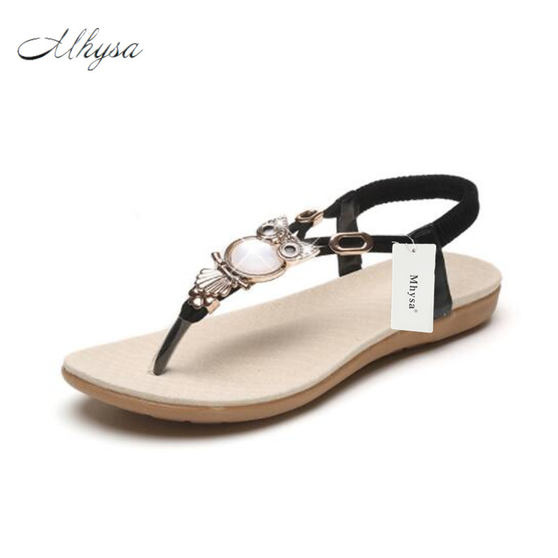 M New summer shoes women fashion flat women Sandals Leisure Bohemia Ladies beach Flip Flops Soft casual female Sandals shoes summer leisure slippers slip on round toe comfortable sandals women flat sandals casual flip flops female shoes