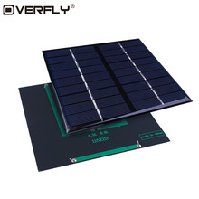 Overfly Solar Panel Solar Cells 2W 9V Polycrystalline Silicon Energy Board Solar Power Panel System DIY Battery Cell For Phone
