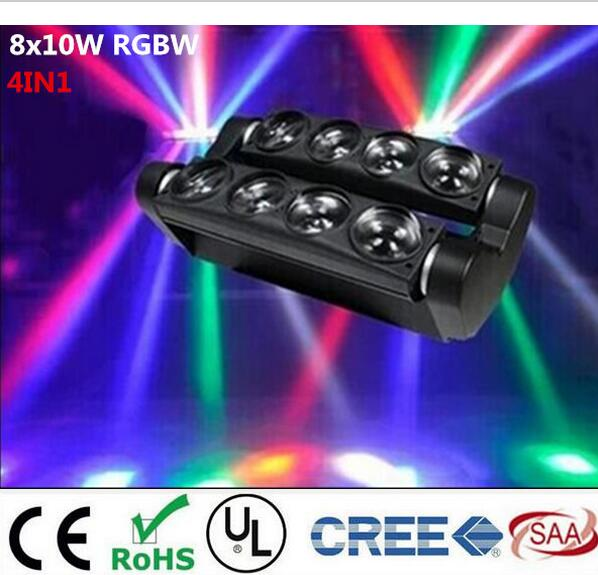 New Moving Head Led Spider Light 8x6W / 8x12W  RGBW Led Party Light DJ Lighting Beam Moving Head Light 9 moving head laser spider light green color 50mw 9 triangle spider moving head light laser dj light disco club event
