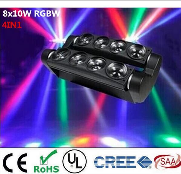 Nouvelle Tête Mobile Led Araignée Lumière 8x6 W/8x12 W RGBW Led Light Party DJ éclairage Faisceau Mobile Head Light