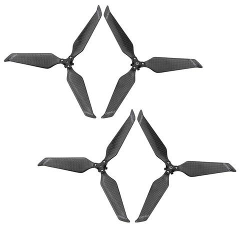 Fibra de Carbono Hélices para Dji Mavic Pro Zoom 3-blade Drone Low-noise Dobrável Hélice Props Acessórios 8743 cw Ccw 2