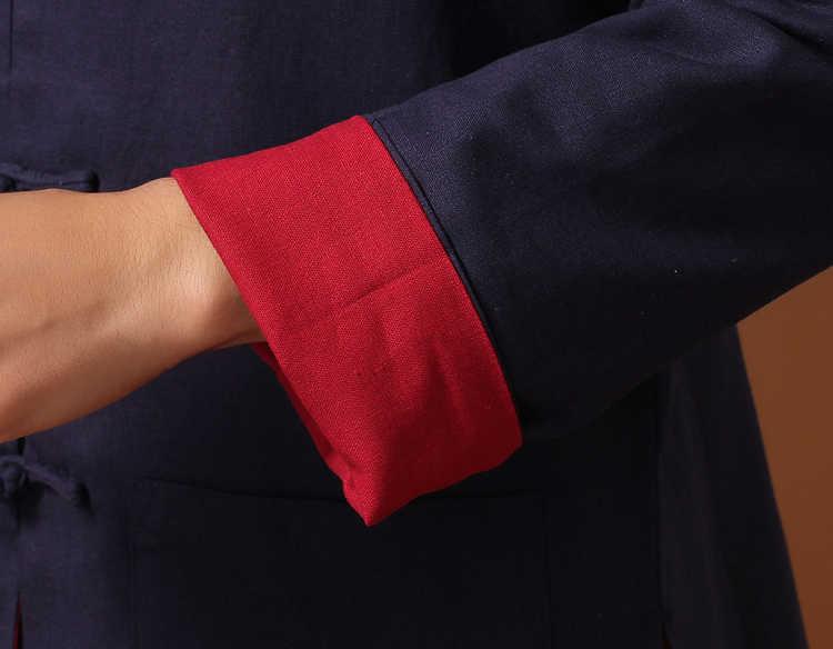 ホット販売中国の男子カンフージャケット可逆二面リネンコート男性の綿上着 SM L XL XXL XXXL