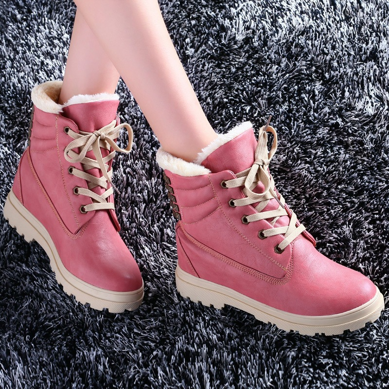 High Quality 2016 Flat Lace-up Brand Martin Ankle Winter Boots Genuine Leather Round Toe Big Size Motorcycle Boots Women Boots odetina fashion genuine leather ankle boots flat woman round toe platform lace up boots autumn winter casual shoes big size 43