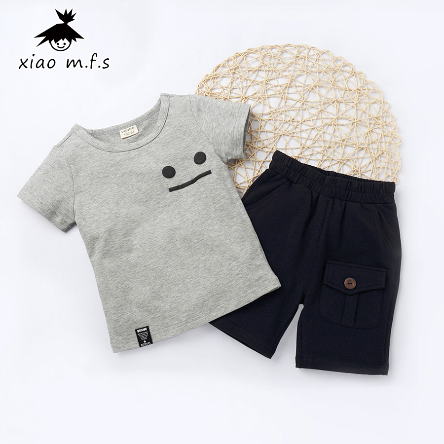 Boys Girls Clothing Sets 2017 Kids Clothes Set Summer Casual Children T-shirt+Short Pants Sport Suit Child Outfit 3-7Y MFS-X8019 cotton baby boys girls wear children clothing set kids clothes cartoon print short sleeve t shirt pants kids summer sport suit