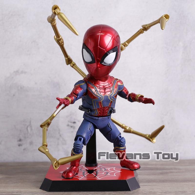 все цены на Marvel Avengers Infinity War Iron Spider Egg Attack Figure Toy Doll Brinquedos Figurals Gift онлайн