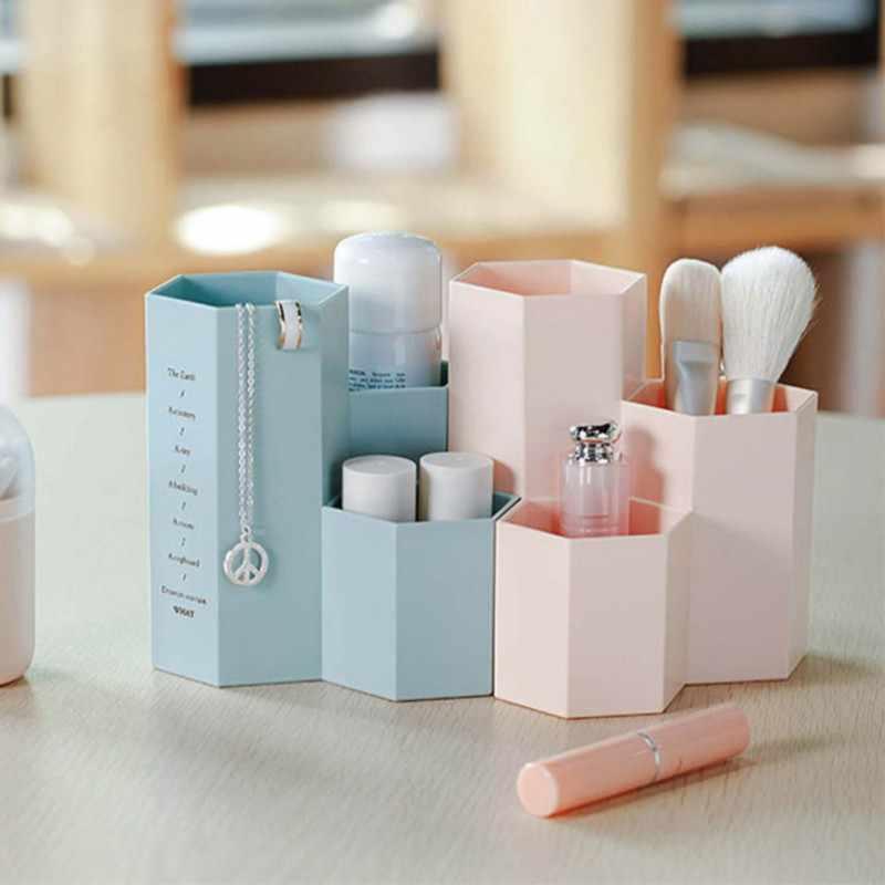 Косметическая коробка, настольный органайзер, держатель для косметики, инструменты для макияжа, ящики для хранения кистей, кейс для ювелирных изделий, витрина, косметический инструмент