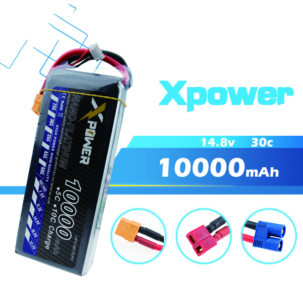 Xpower 14.8V 4s Lipo battery 10000mAh 30C max 35C XT60 T EC5 XT90 plug for rc drone Helicopter Airplane parts холодильник daewoo rnv 3310wch