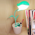 Novelty LED Table Lamp Reading Light Pen Container Bird Shape 3 Mode Dimming Touch Switch LED Desk Lamp USB Rechageable Smart