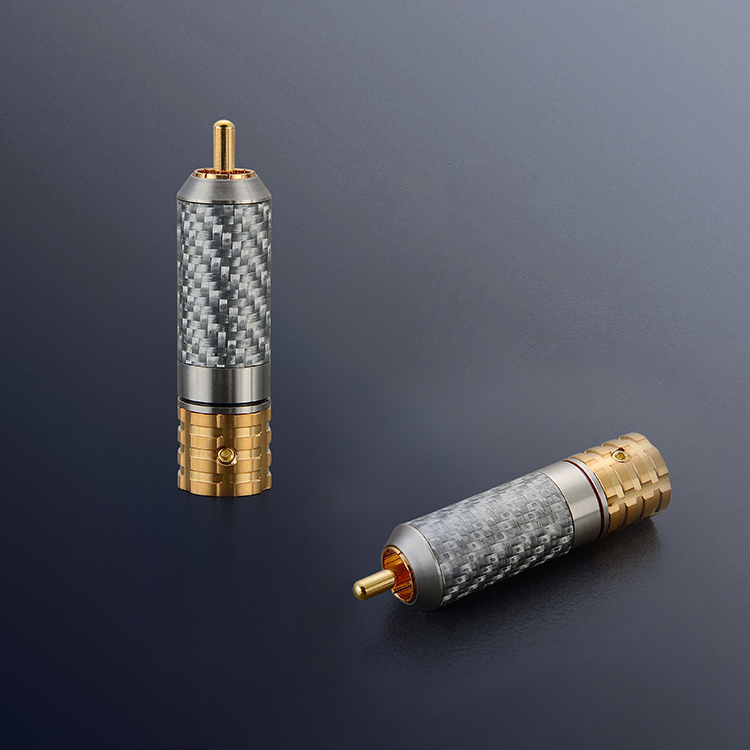 4PCS Viborg VR108G Pure Copper Carbon Fiber RCA Unsolder version Pure Copper RCA screws locking 24K Gold plated RCA in Electrical Plug from Consumer Electronics