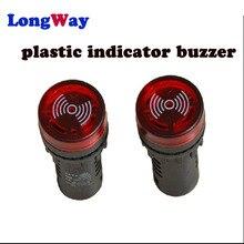 Светодиодный звуковой сигнал, 1 шт., 12 В, 24 В, 110 В, 220 В, 380 В, красный, зеленый, желтый, черный, 16 мм