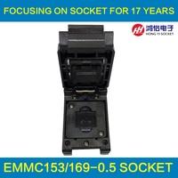 EMMC153 169 To DIP48 Test Socket IC Body Size 12x18mm Pin Pitch 0 5mm BGA169 BGA153