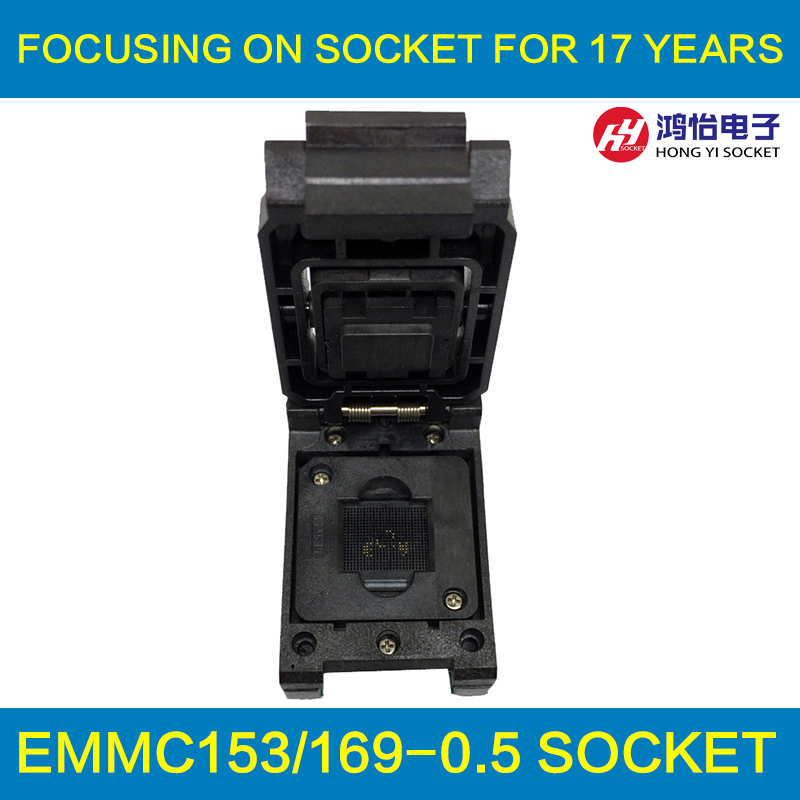 eMMC153/169 to DIP48 Test Socket IC Body Size 12x18mm Pin Pitch 0.5mm BGA169 BGA153 Clamshell Reader Adapter Data Recovery 60pcs lot 8 pin dip square hole ic sockets adapter 8pin pitch 2 54mm connector