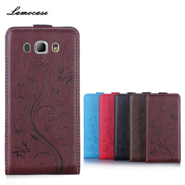 Butterfly Painted For Samsung Galaxy J7 2016 J7108 J710 J710F SM-J710F SM-J710 Case Leather Cover Flip Vertical Phone Bags