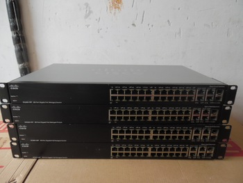 used SG300-28P network management 24-port Gigabit POE power supply switch 4-port Gigabit optical multiplexing