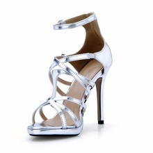 New Womens Model Show Sequined Open Peep Toe Big Size lady Stiletto High Heels Sexy Dress Wedding Party ladeis Shoes For Woman