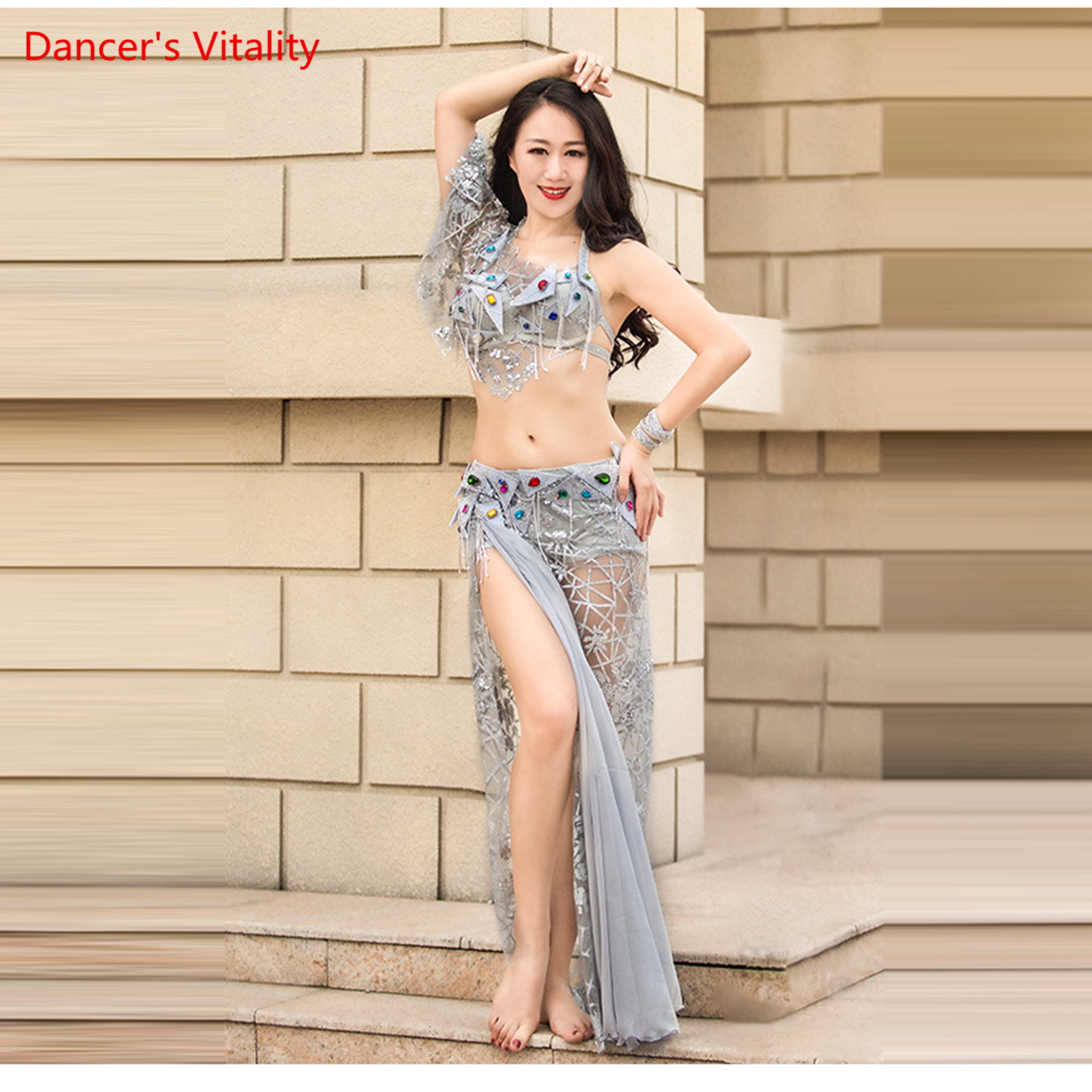 Belly Dance Performance Outfit Suit Women 2019 New Summer High-End Dress Luxury Bra+Skirt 2pcs Set