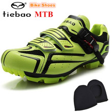 TIEBAO Cycling shoes sapatilha ciclismo mtb Professional Ultra Light Breathable Bicycle Mountain Bike Self-locking Shoes men