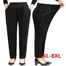 Plus size XL-8XL Middle-aged Women Trousers Spring Autumn El