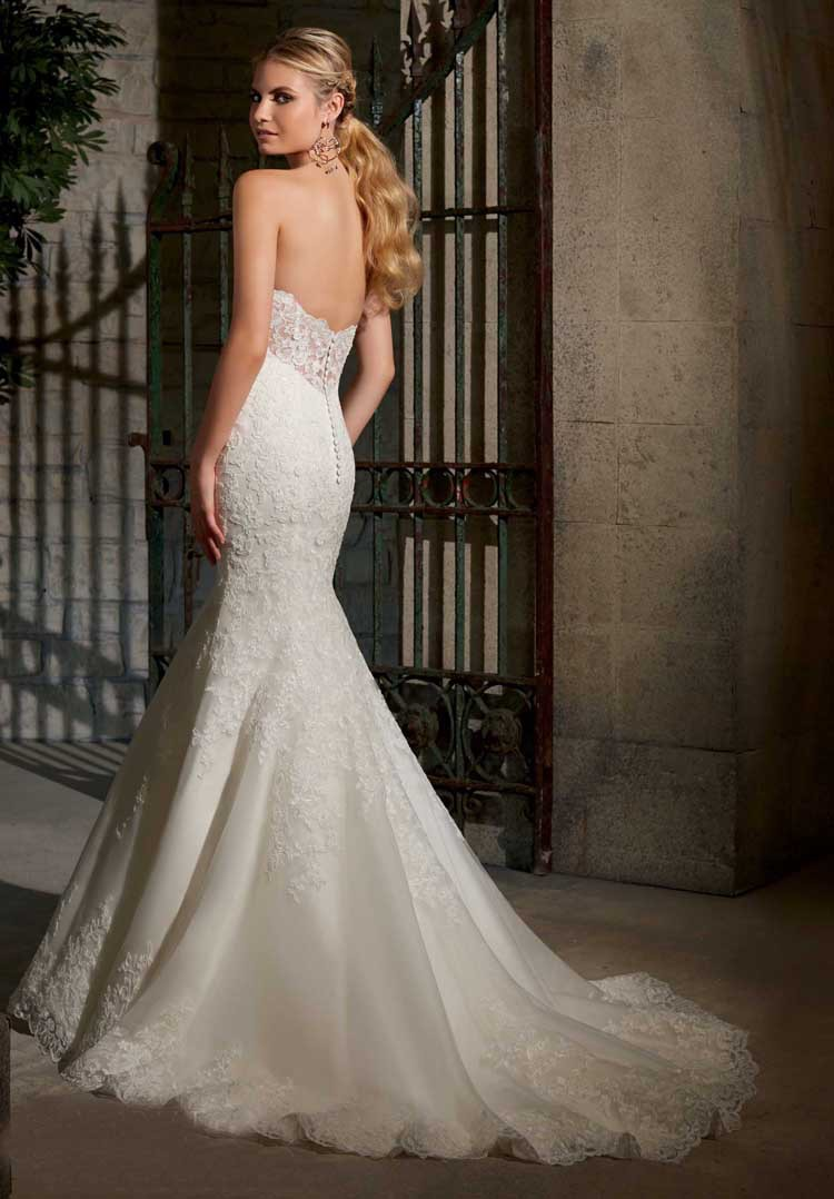 CUSTOM FIT MERMAID LACE APPLIQUES WEDDING GOWNS WHITE IVORY COLOR BRIDAL DRESS QUICK SHIPPING In Wedding Dresses From Weddings Events On Aliexpress
