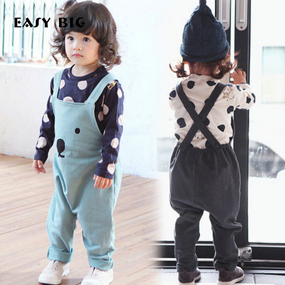 EASY BIG Girls Spring Cute Bears Children Clothing Sets Casual Kids Coats+Pants 2pcs Boys Clothes Suits CC0027