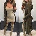 Estilo Retro Dama de Algodón de Invierno Chaqueta de punto Suéter de Las Mujeres Sin Cuello de Manga Larga Suéteres de la Rebeca de Las Mujeres Asimétricas