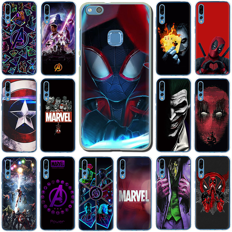 Marvel The Avengers Jorker Dead Pool <font><b>Hard</b></font> phone cover <font><b>case</b></font> for Huawei <font><b>Honor</b></font> 6A 6C 7A Pro 7C 7X 8 <font><b>9</b></font> 10 <font><b>Lite</b></font> 8C 8X Play image