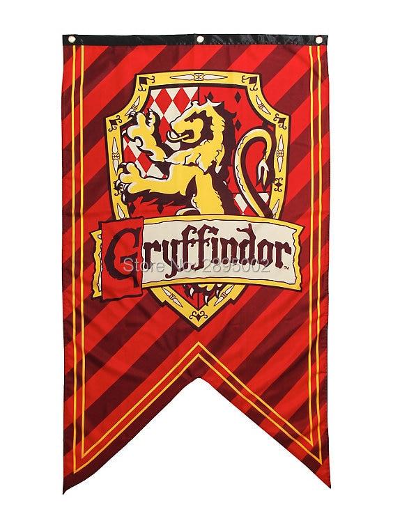 harry potter gryffindor shield banner flag polyester