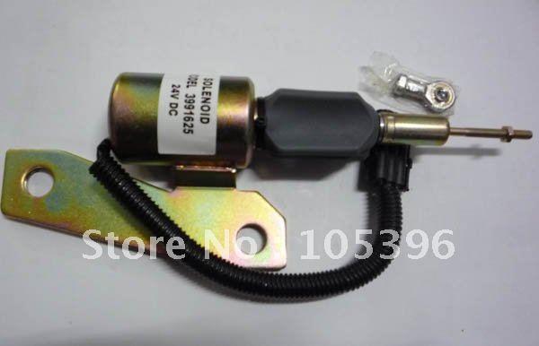Stop solenoid 3991625 SA-4959-24+fast free shipping by FEDEX/DHL fuel shutdown solenoid valve 3932529 sa 4756 12 for engine 4b 6b fast cheap shipping by fedex dhl