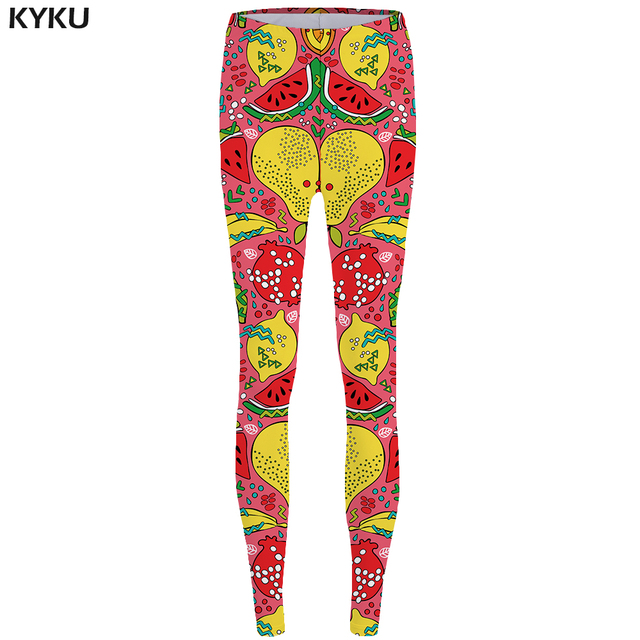 b54ca2e9eb76 New Brand Fruit Leggings Watermelon Legging 3d Red High Waist Fashion 3d  pants Leggins fitness Legging Women Jeggings